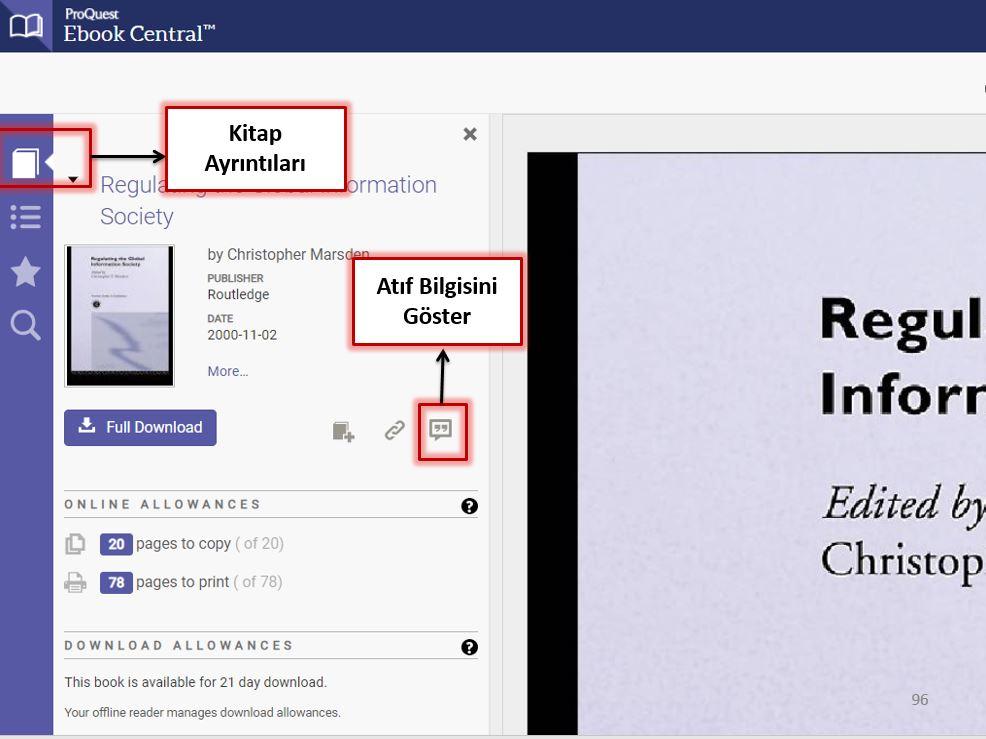 Ebook Central Atıf Bilgisi Gösterme