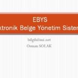 Elektronik Belge Yönetim Sistemleri