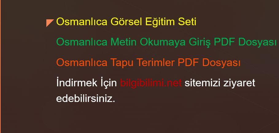 Osmanlıca Eğitim Seti
