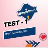 MARC Kataloglama Online Test – 1