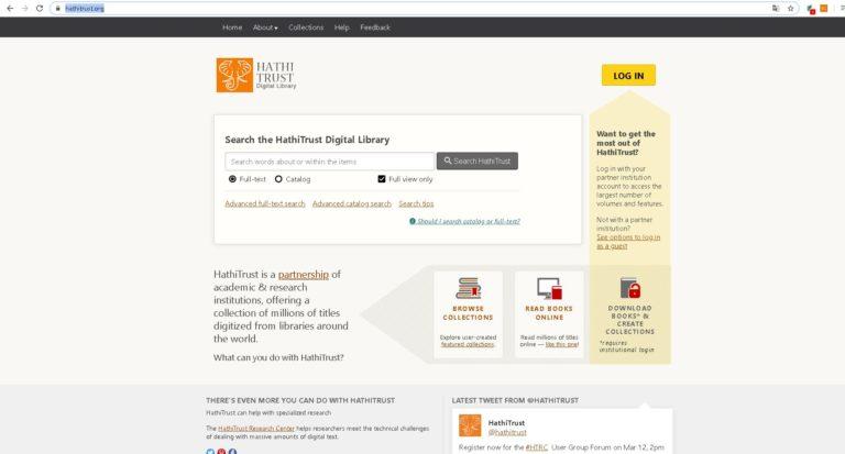 Hathi Trust 17 Milyon Kitaba Online Ücretsiz Erişim